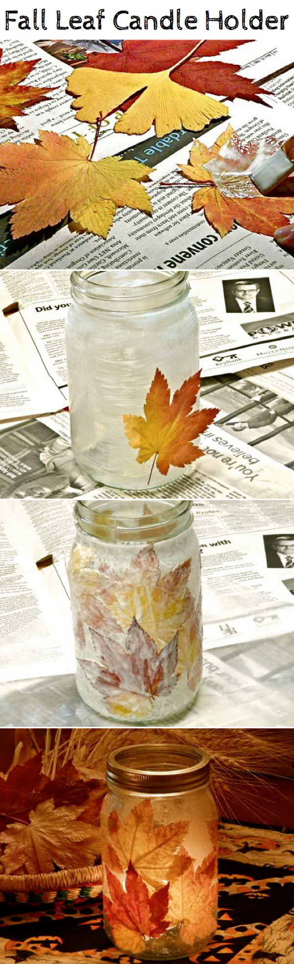 Diy crafts with fall leaves hative for Easy diy fall crafts