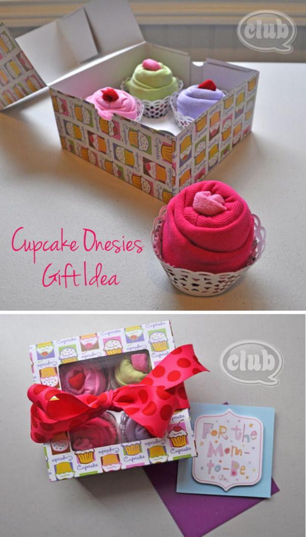 Cupcake Onesies Gift Basket.