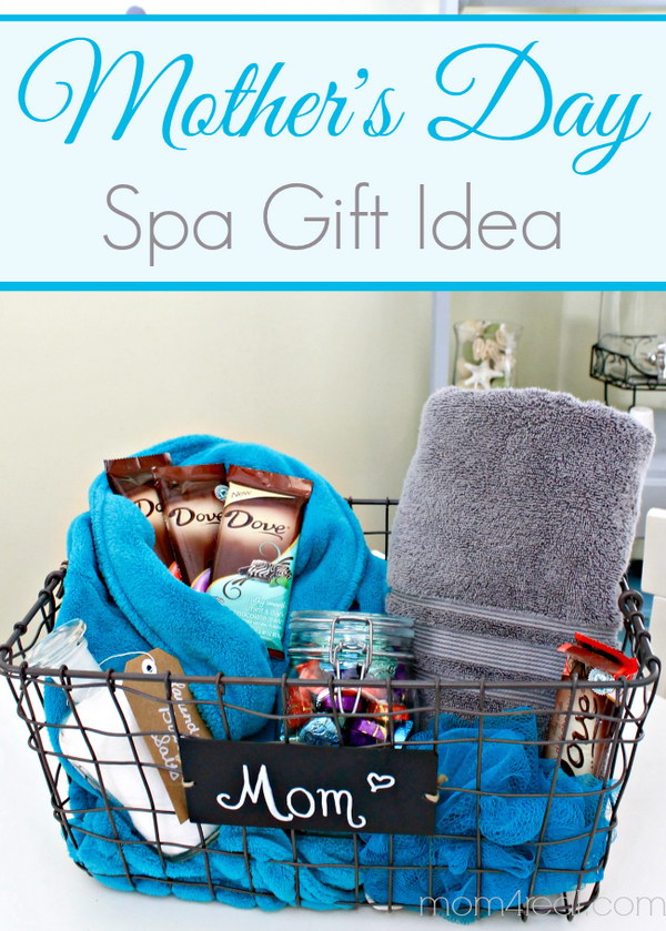 mothers day gift idea spa gift basket