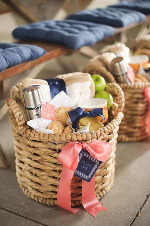 Welcome Gift Basket For Wedding Guests.
