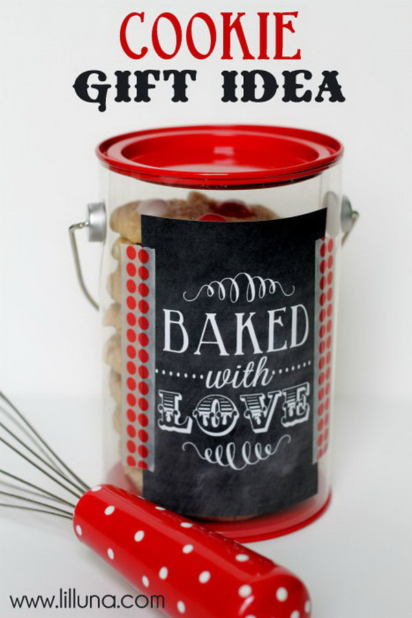 Homemade Cookie Gift Idea.