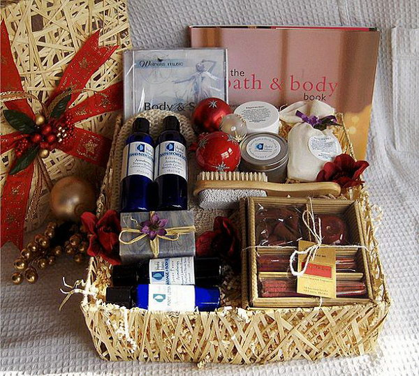 Bath Gift Basket.