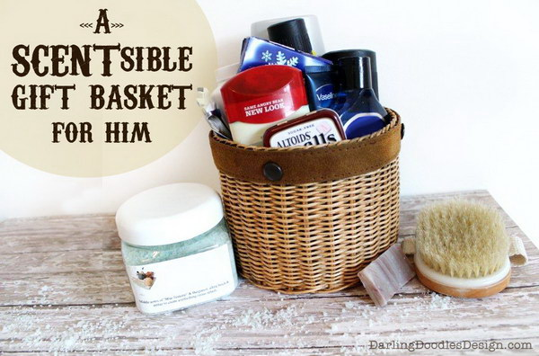 A SCENTsible Gift Basket For Him.