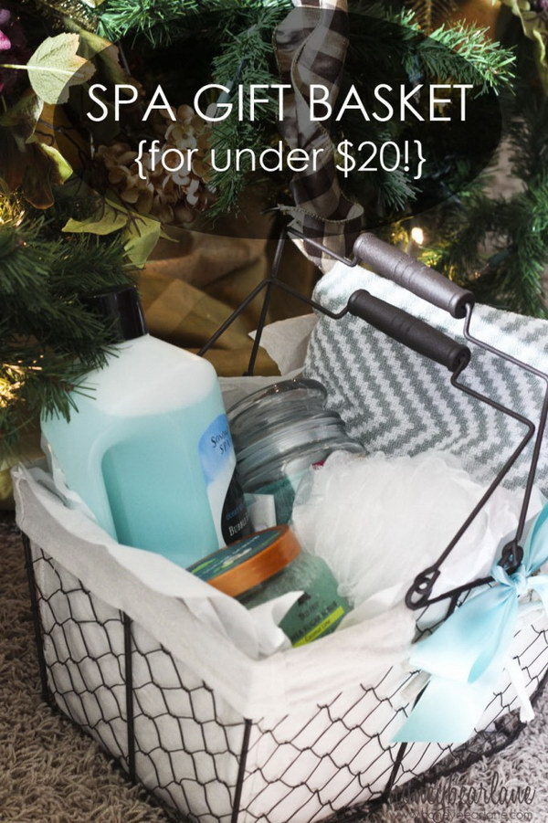 Diy Christmas Spa Basket