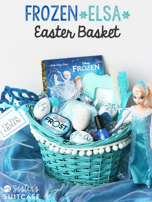 Frozen Elsa Easter Gift Basket.
