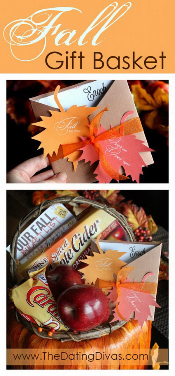 "I ""Fall"" For You Gift Basket."