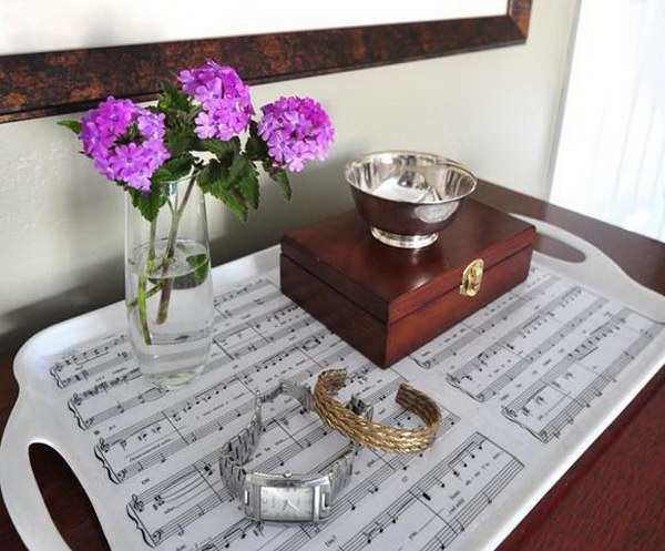 Sheet Music Tray. What a sweet and special gift idea!