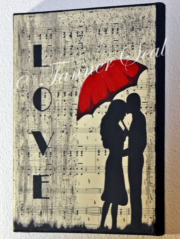 Sheet Music Canvas Art. This would make a great gift for the music lovers in your life or that special someone!