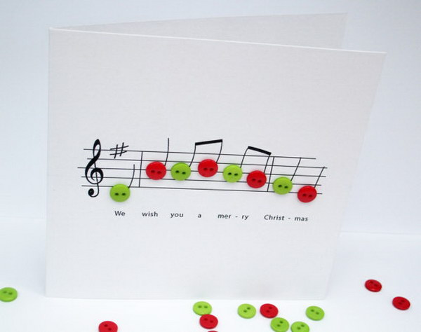 Greeting Card With Button Notes.