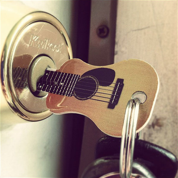 Acoustic Guitar House Key. This is a fun and creative gift for any guitar player, music lover or musician!