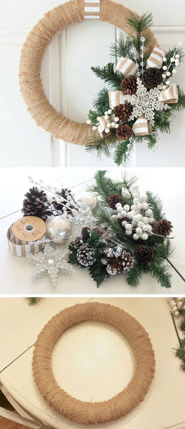 20 homemade christmas decoration ideas tutorials hative Simple christmas wreaths