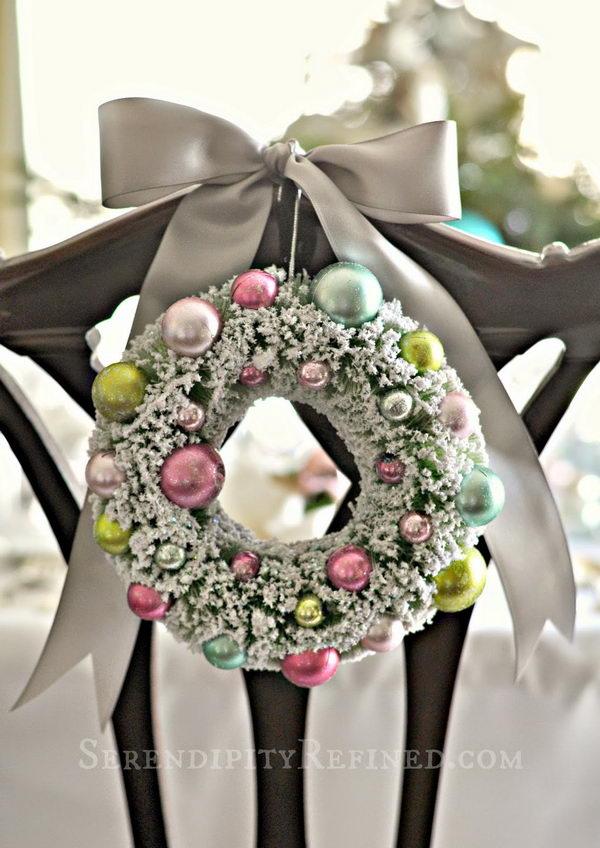Pastel Ornament Wreath Hanging Decoration.