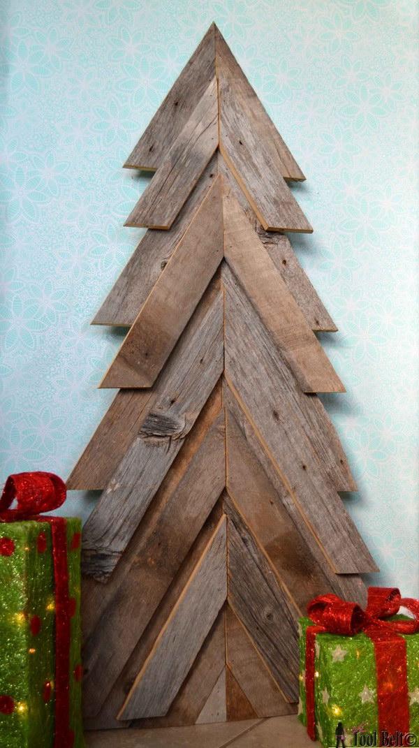 Handmade Rustic Christmas Tree.