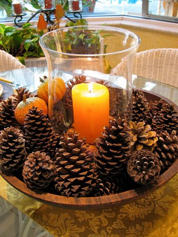 Thanksgiving Decorations Using Pine Cones : Festive diy pine cone decorating ideas hative