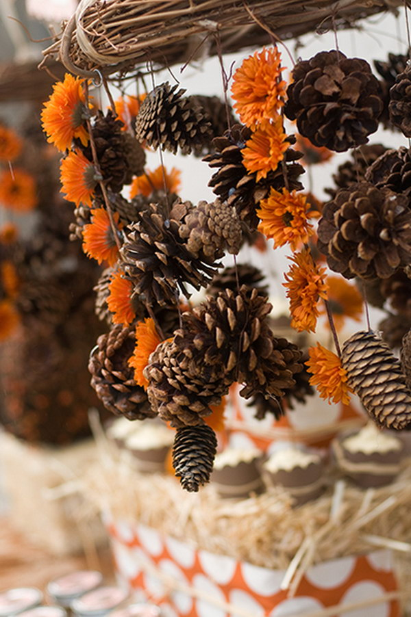 Festive diy pine cone decorating ideas hative