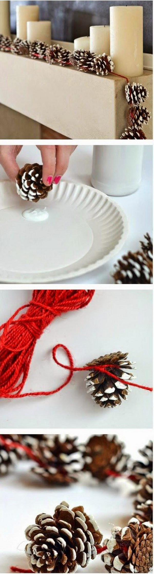 DIY Pinecone Garlands