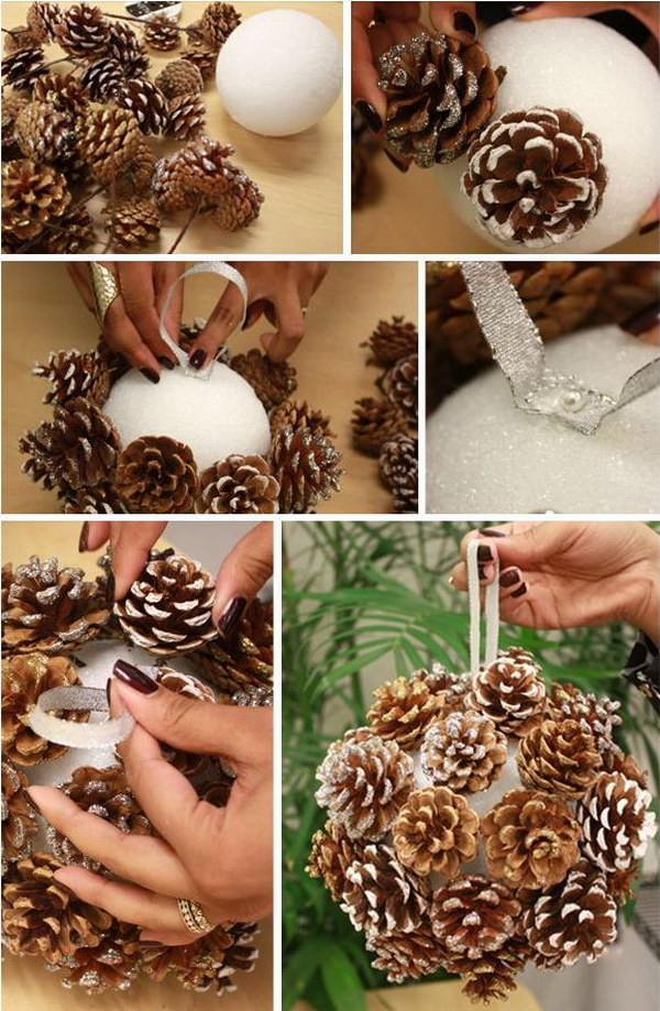 Frosted Look Pinecone Ball