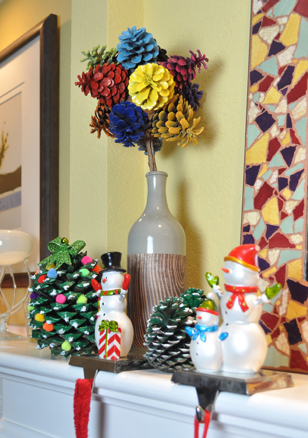 Pine Cone Flowers and Christmas Trees