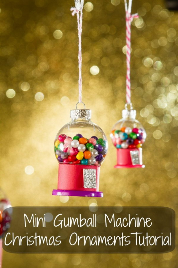 mini gumball machine christmas ornament - Homemade Mickey Mouse Christmas Decorations