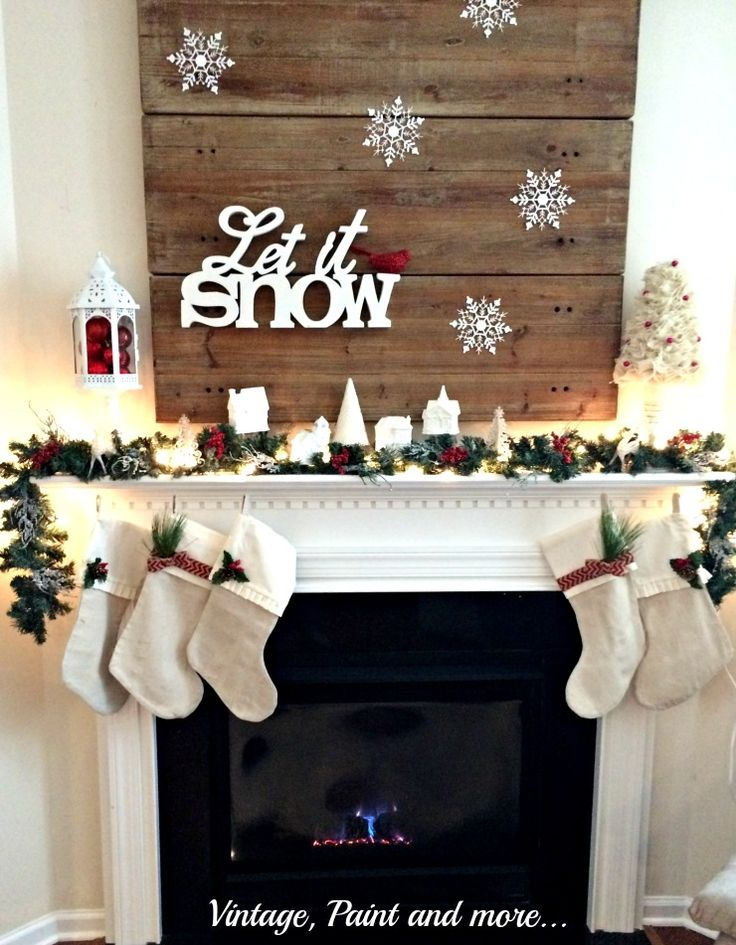 DIY Let It Snow Mantel