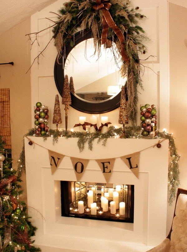 25 gorgeous christmas mantel decoration ideas tutorials hative
