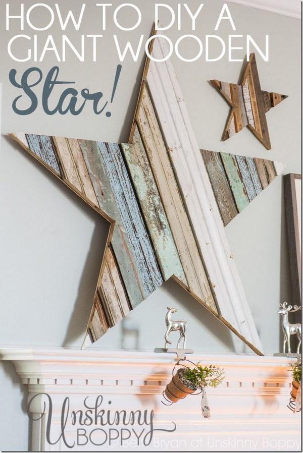 DIY Giant Wooden Star