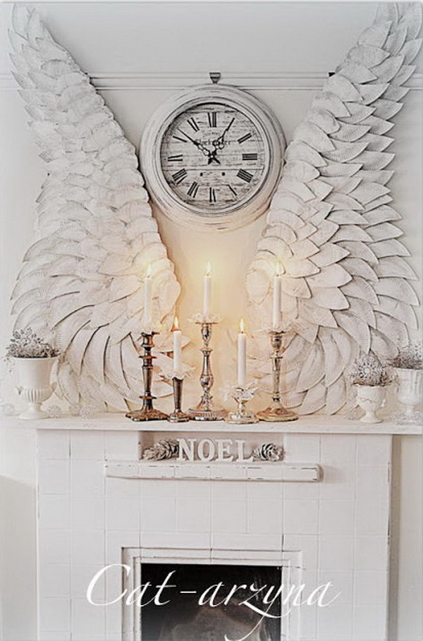 Beautiful Wings Made from Paper Plates