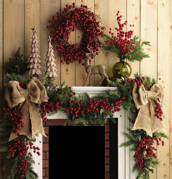 country christmas mantel - How To Decorate A Fireplace Mantel For Christmas