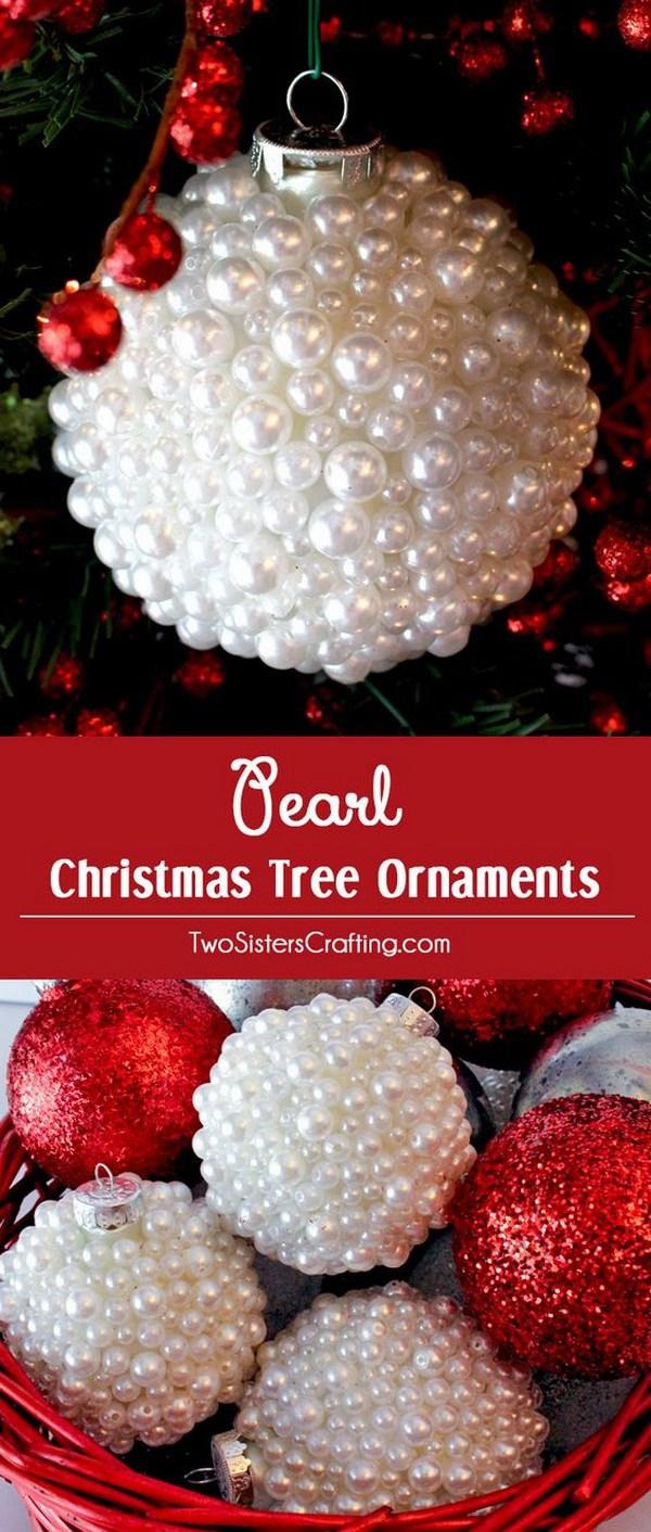 DIY Cute Yarn Hat Christmas Ornaments.
