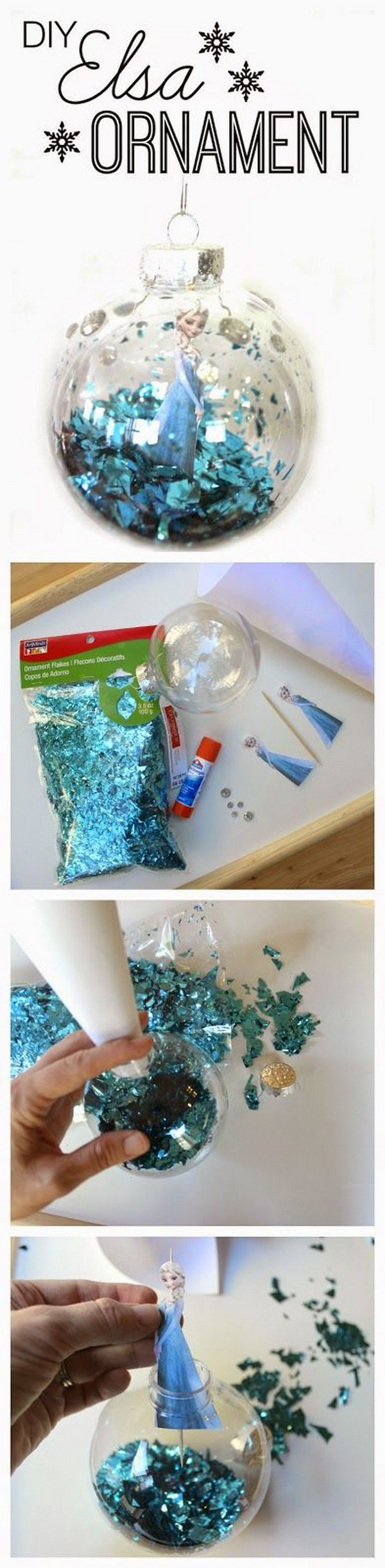 DIY Frozen Christmas Ornament.