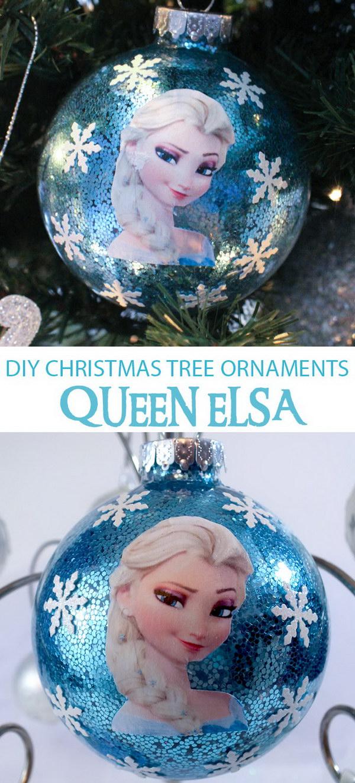 DIY Frozen Christmas Ornaments.