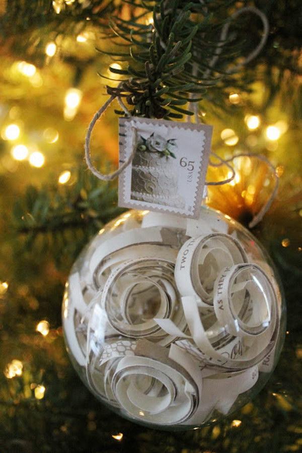 DIY Unique Christmas Ornament.