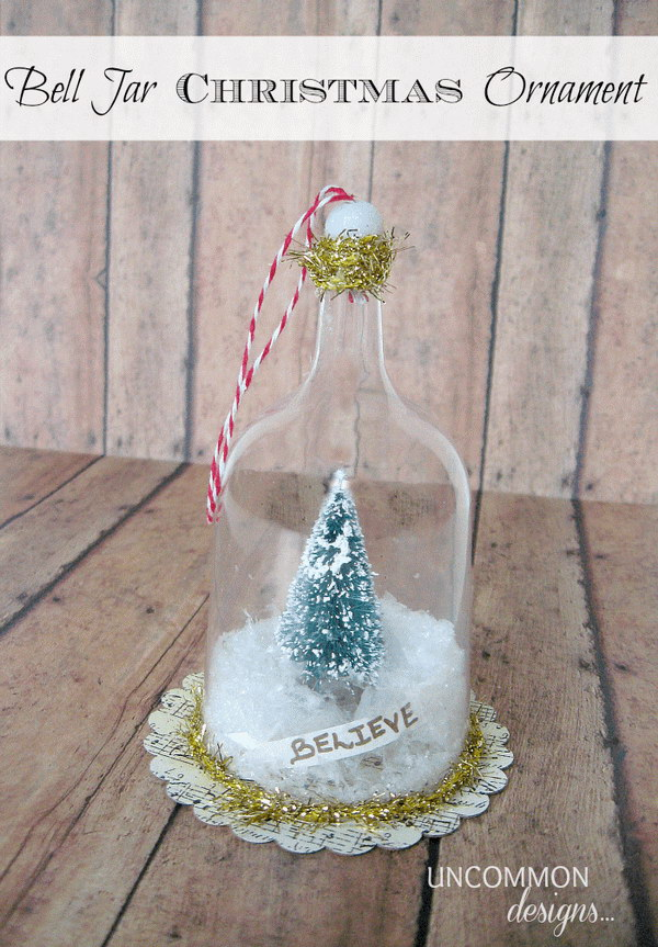 Bell Jar Christmas Ornament.