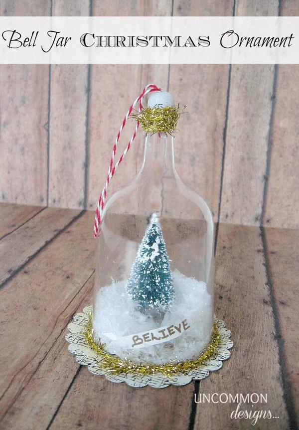 Bell Jar Christmas Ornament.