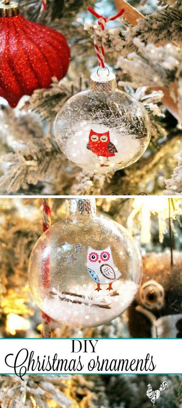 Clear glass craft ornaments - Diy Christmas Glass Ornaments