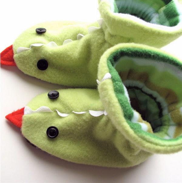 DIY Dragon Slippers