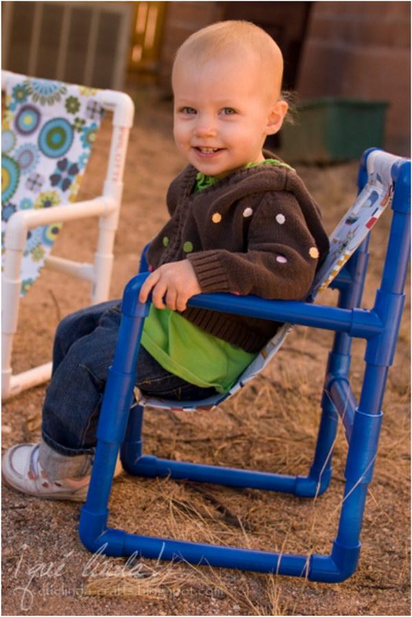 DIY PVC Pipe Toddler Chairs