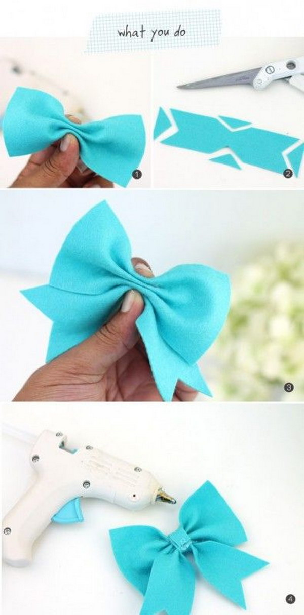 No Sew Felt Hairbow