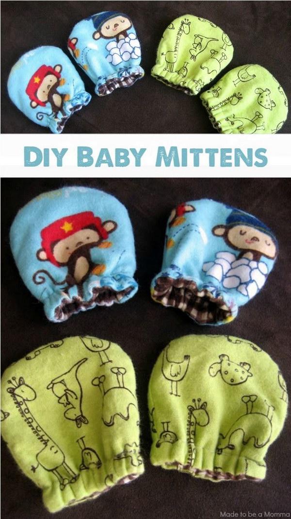DIY Baby Mittens