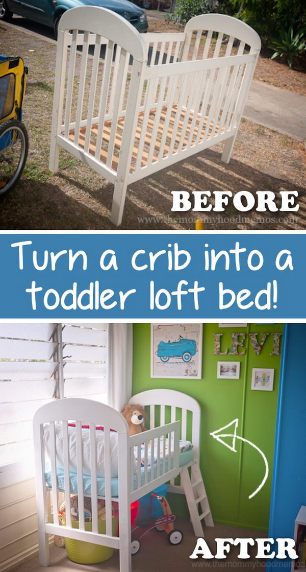diy furniture makeover ideas. wonderful furniture turn a crib to toddler loft bed and diy furniture makeover ideas
