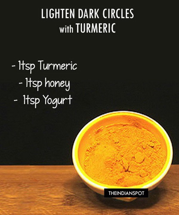Homemade Dark Circle Lightening Mask Using Turmeric.