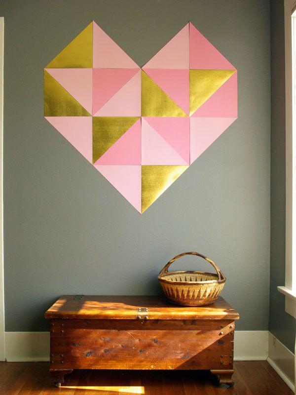 DIY Geometric Heart