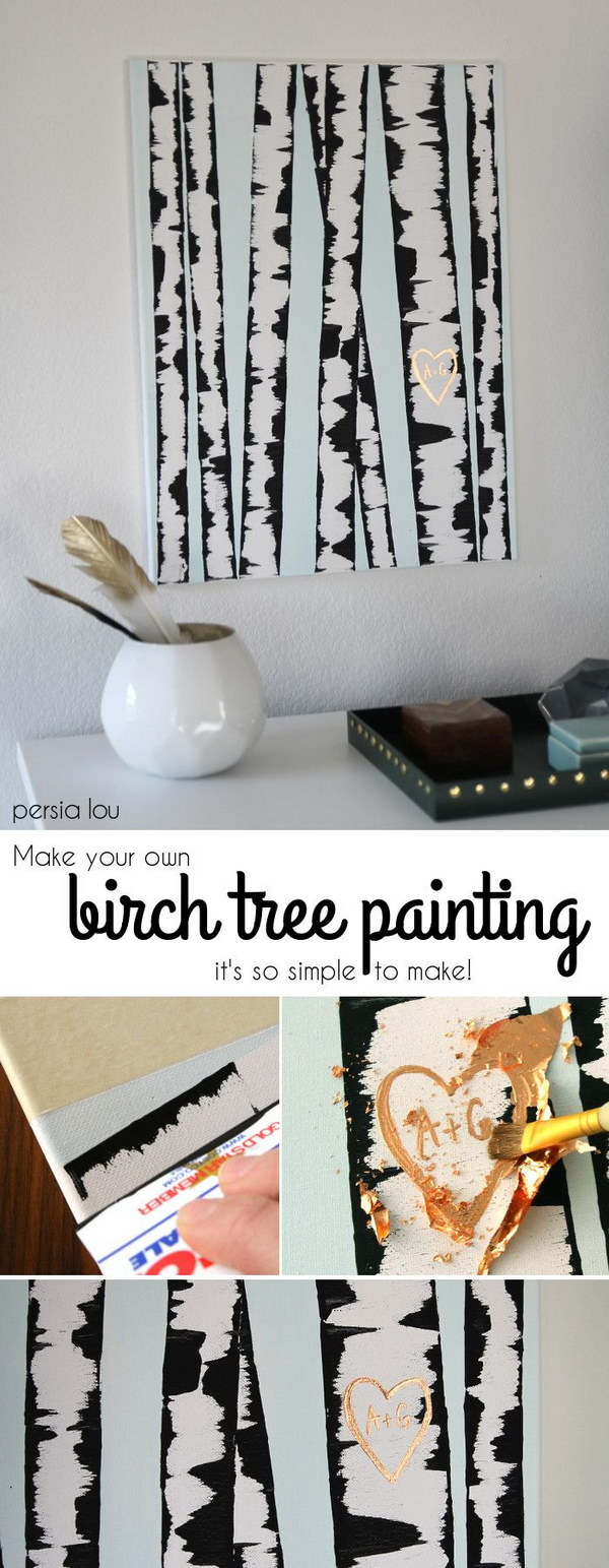 DIY Birch Tree Wall Art