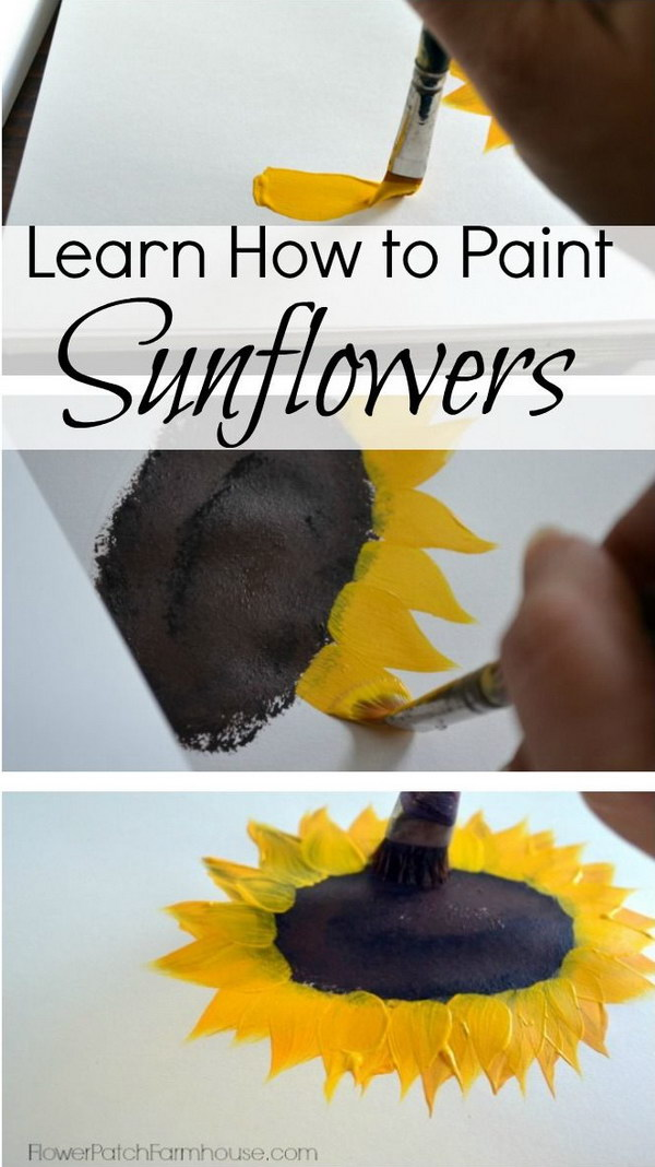 Simple Sunflowers Canvas