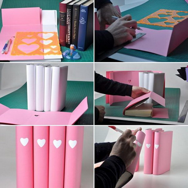 DIY Valentine Book Cover.