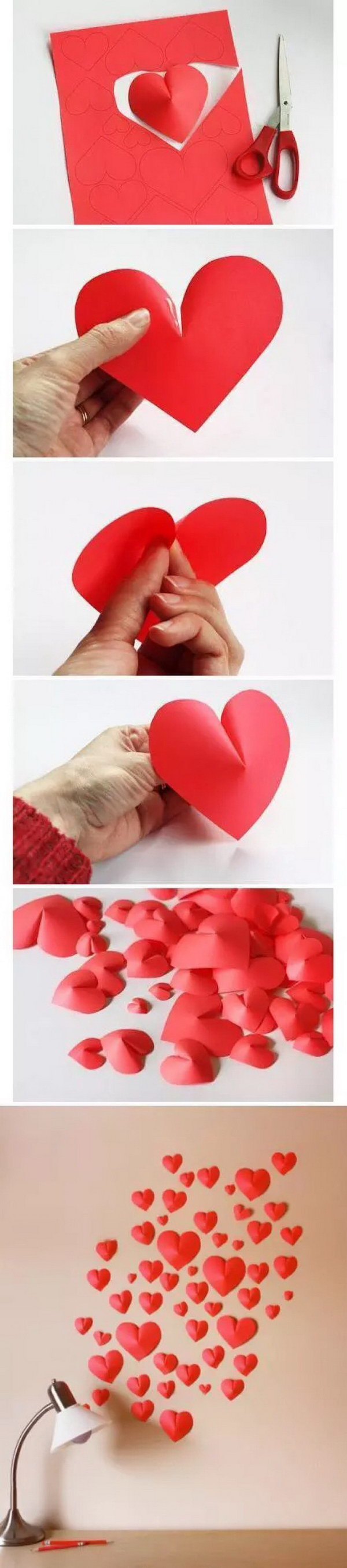 Paper Heart Wall Decor : Best ideas for valentines day hative