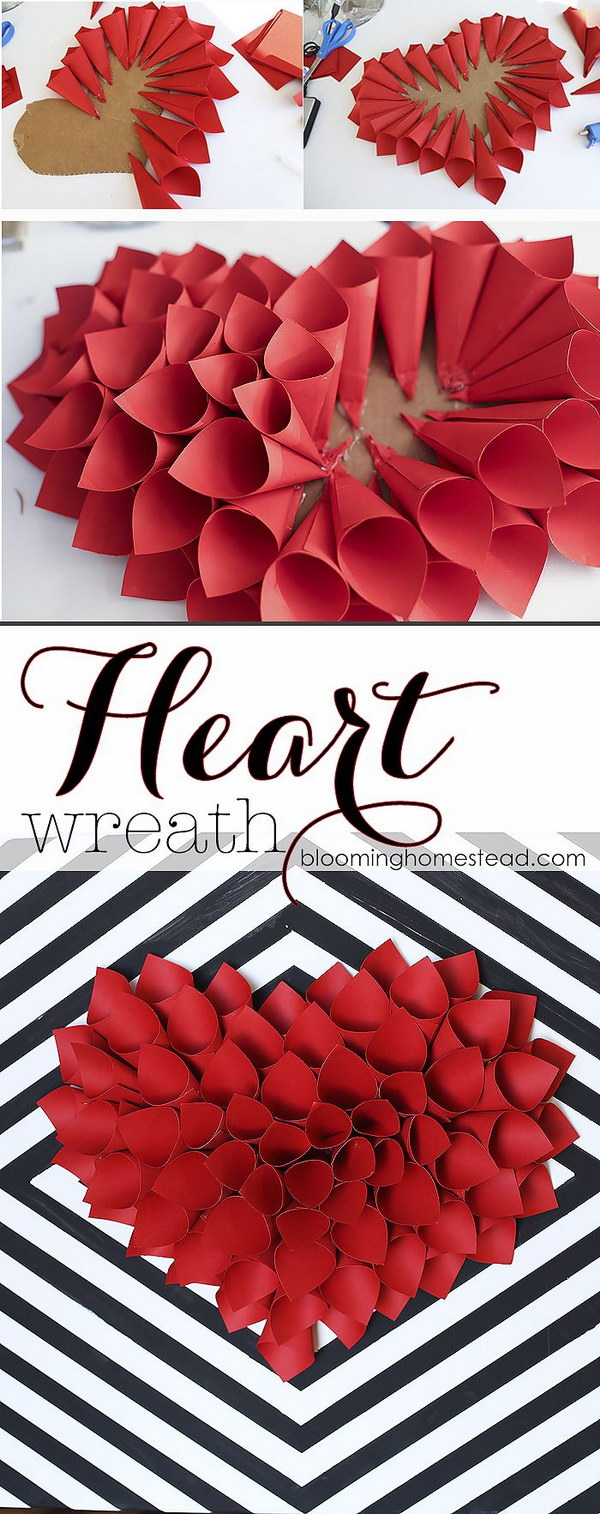 Simple and Easy Valentine's Day Wreath