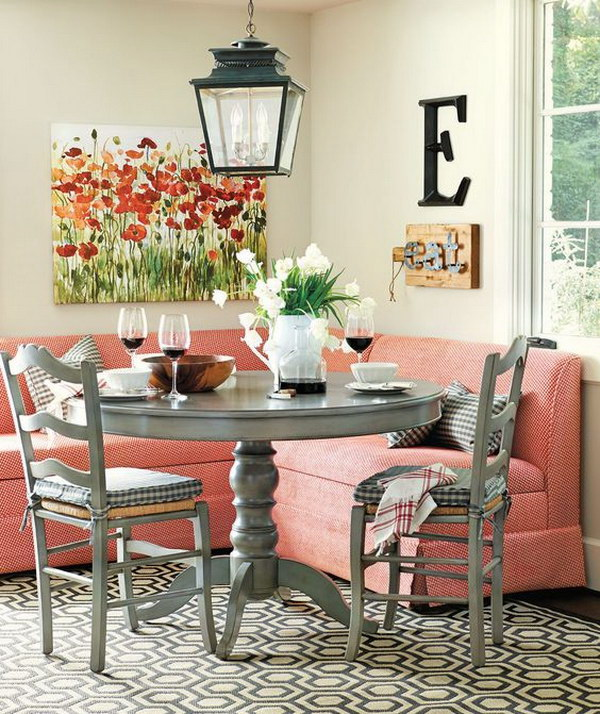 Beautiful and cozy breakfast nooks hative for Dining room nook ideas