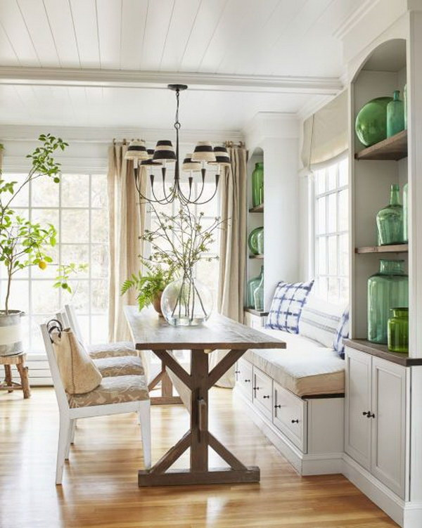Beautiful and cozy breakfast nooks hative for Breakfast room ideas