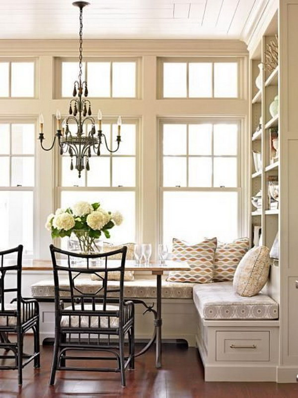 Beautiful and Cozy Breakfast Nooks - Hative on game room storage ideas, half bath storage ideas, bedroom storage ideas, loft storage ideas, garden storage ideas, sunroom storage ideas, outdoor storage ideas, patio storage ideas, living room storage ideas, foyer storage ideas, fireplace storage ideas, studio storage ideas, den storage ideas, indoor storage ideas, stairs storage ideas, master bath storage ideas, island storage ideas, great room storage ideas, entrance storage ideas, guest room storage ideas,